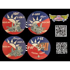 愛國旗 陶瓷吸水杯墊-4款 IDF / F-16 / M2000-5 / F-5E